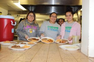 Dare To Care For The Homeless community feeding event