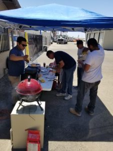 People couldn't get enough burgers and hot dogs at StaxUP Storage in Brawley