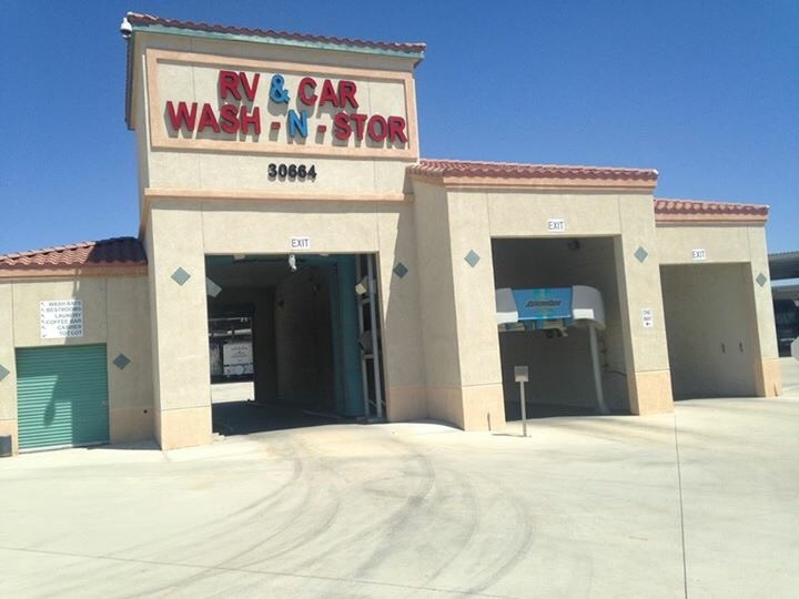 rv car wash at StaxUP Storage in Homeland, California