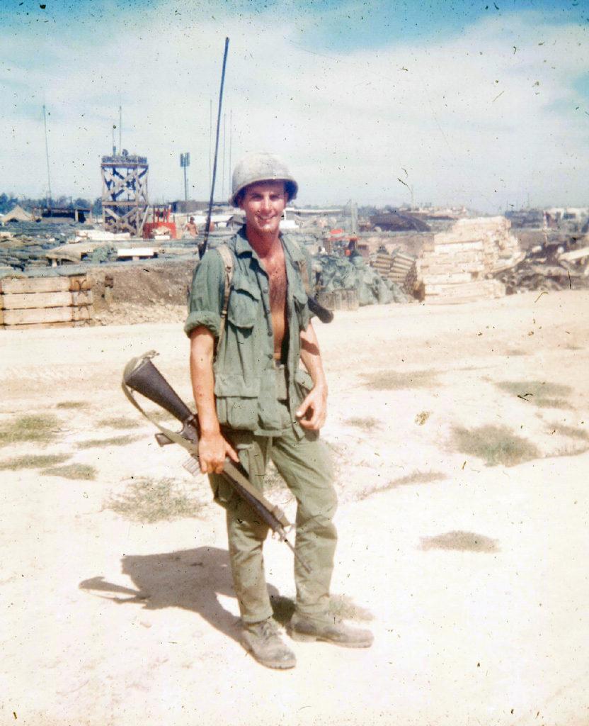 Julie Merry's brother John in Vietnam in 1970.