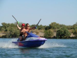jet skiing at lost lake park