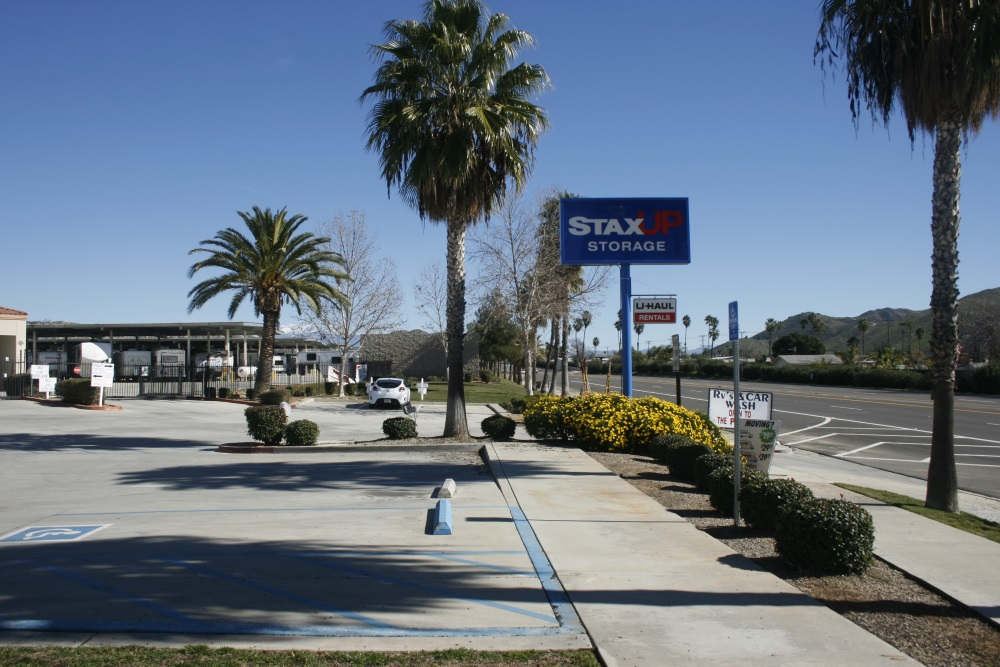 Wide lanes and spacious rv parking at StaxUP Storage in Southern California.