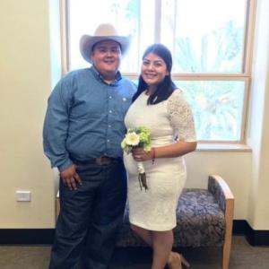 Lockaway Storage Team Member Osvaldo Quintana and Jazmin Hernandez Wedding