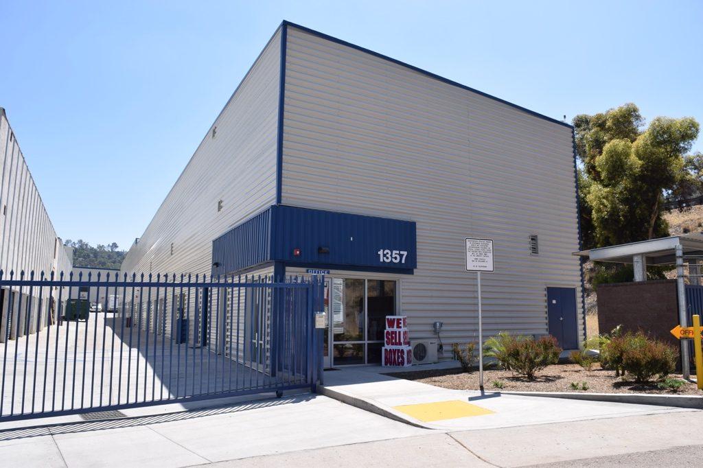 El cajon self storage facility.